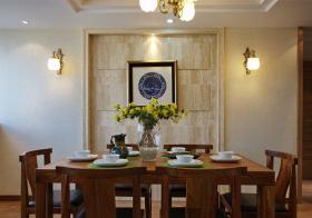 素净中式餐厅背景墙设计