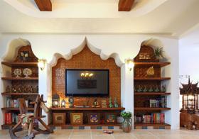 独特东南亚客厅背景墙设计