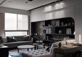 灰色简约现代客厅设计
