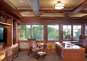 大气实木美式书房设计