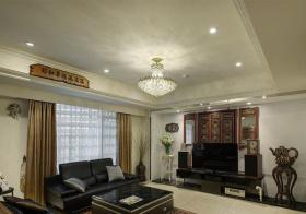 传统中式客厅电视墙设计