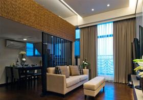 镂空现代客厅隔断设计