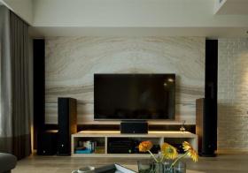 大理石现代客厅电视墙设计