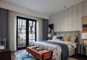 都市现代卧室窗帘装修
