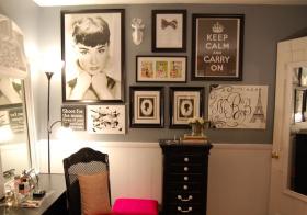 创意美式照片墙设计