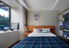 清爽现代卧室飘窗美图