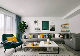 清新北欧客厅设计美图