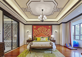 特色中式卧室背景图设计