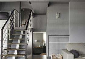 灰色简约楼梯装修设计