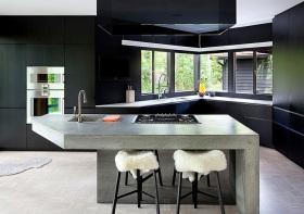 都市现代厨房吧台设计