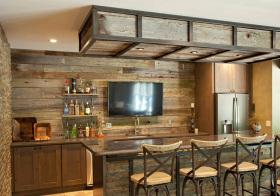 乡村美式厨房吧台设计