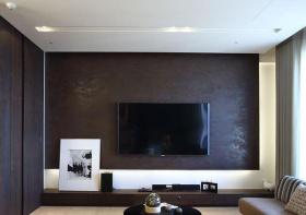 时尚黑现代客厅电视墙设计