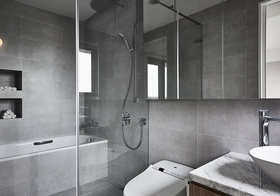 玻璃现代卫生间隔断设计