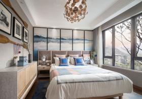 水墨北欧卧室背景墙设计