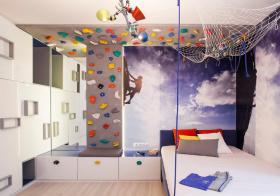 探险风现代儿童房装修设计