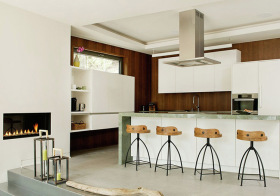 清新简欧厨房吧台设计