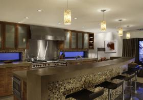 大气现代厨房吧台设计美图