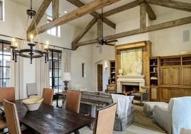 木制美式客厅吊顶设计