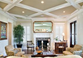 创意欧式客厅吊顶设计