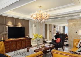 典雅新古典客厅吊顶美图