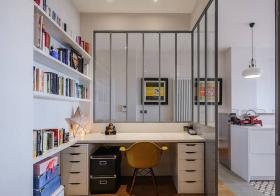 开放式现代书房装修设计