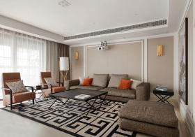 撞色混搭客厅设计美图