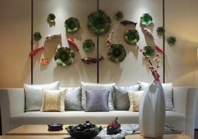 创意中式客厅背景墙设计