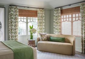 清新北欧卧室窗帘设计