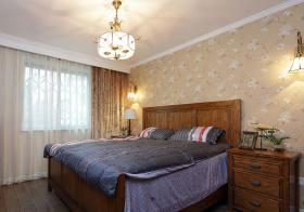 碎花美式卧室窗帘美图