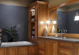 实木东南亚卫生间浴室柜设计