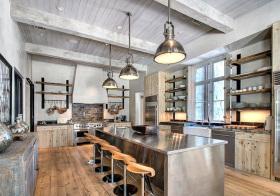 金属感美式厨房装修设计