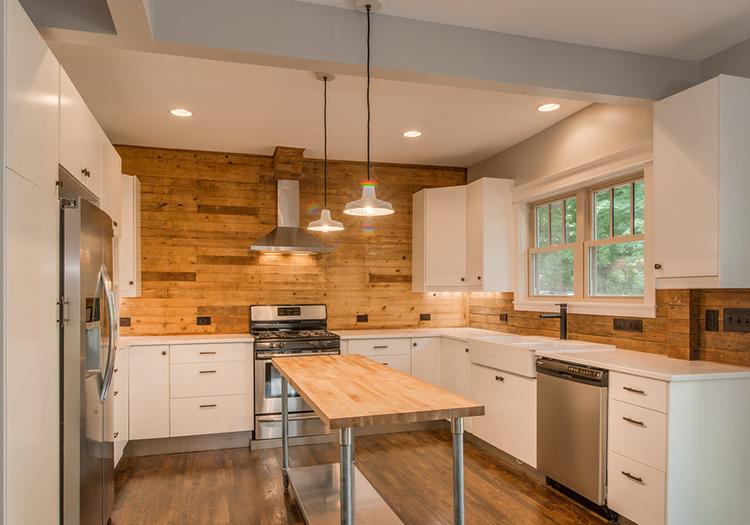 实木现代厨房设计装修
