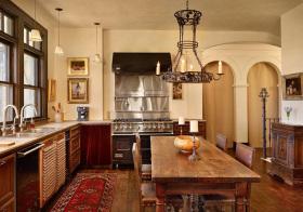 复古地中海厨房装修设计