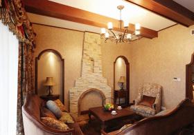 温馨地中海客厅装修设计