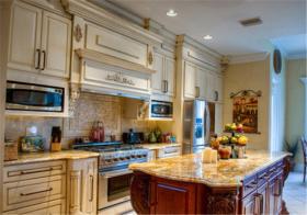 复古美式厨房吧台设计