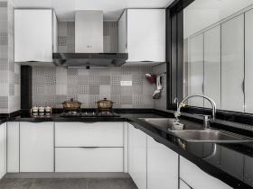黑白色系现代简约马赛克厨房设计