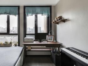 简约精致黑白卧室书房设计