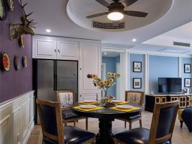 深色美式典雅舒适餐厅设计