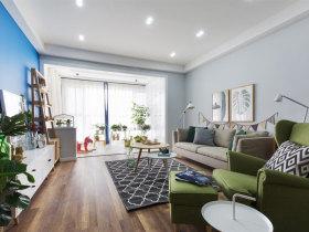 森系混搭优雅舒适客厅装修设计