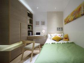 马卡龙色儿童房书房设计