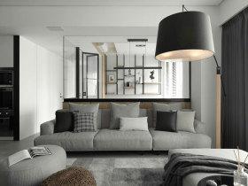 现代浅灰色系精致化客厅设计