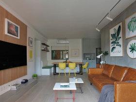 森系植物元素客厅设计效果