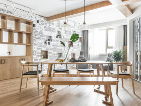北欧宜家原木清新餐厅设计