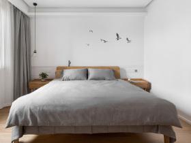 简约原木半中式灰色卧室装修效果