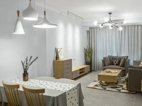 日式简约宜家开放式客厅设计