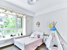 洁白清新儿童房设计