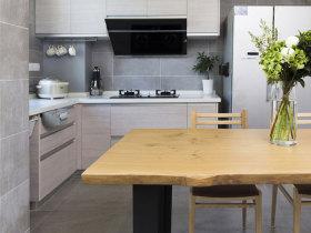 开放式厨房餐厅二合一简约设计