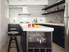 黑白色系现代欧式简约厨房设计