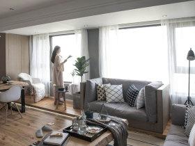 简约北欧舒适清新小户型客厅装修设计