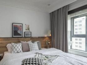 现代简约北欧风洁白卧室设计